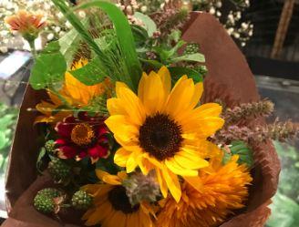 青山フラワーマーケット,自由が丘,フレルウィズ自由が丘,花屋,花,フラワーショップ,ひまわり,ミニヒマワリ