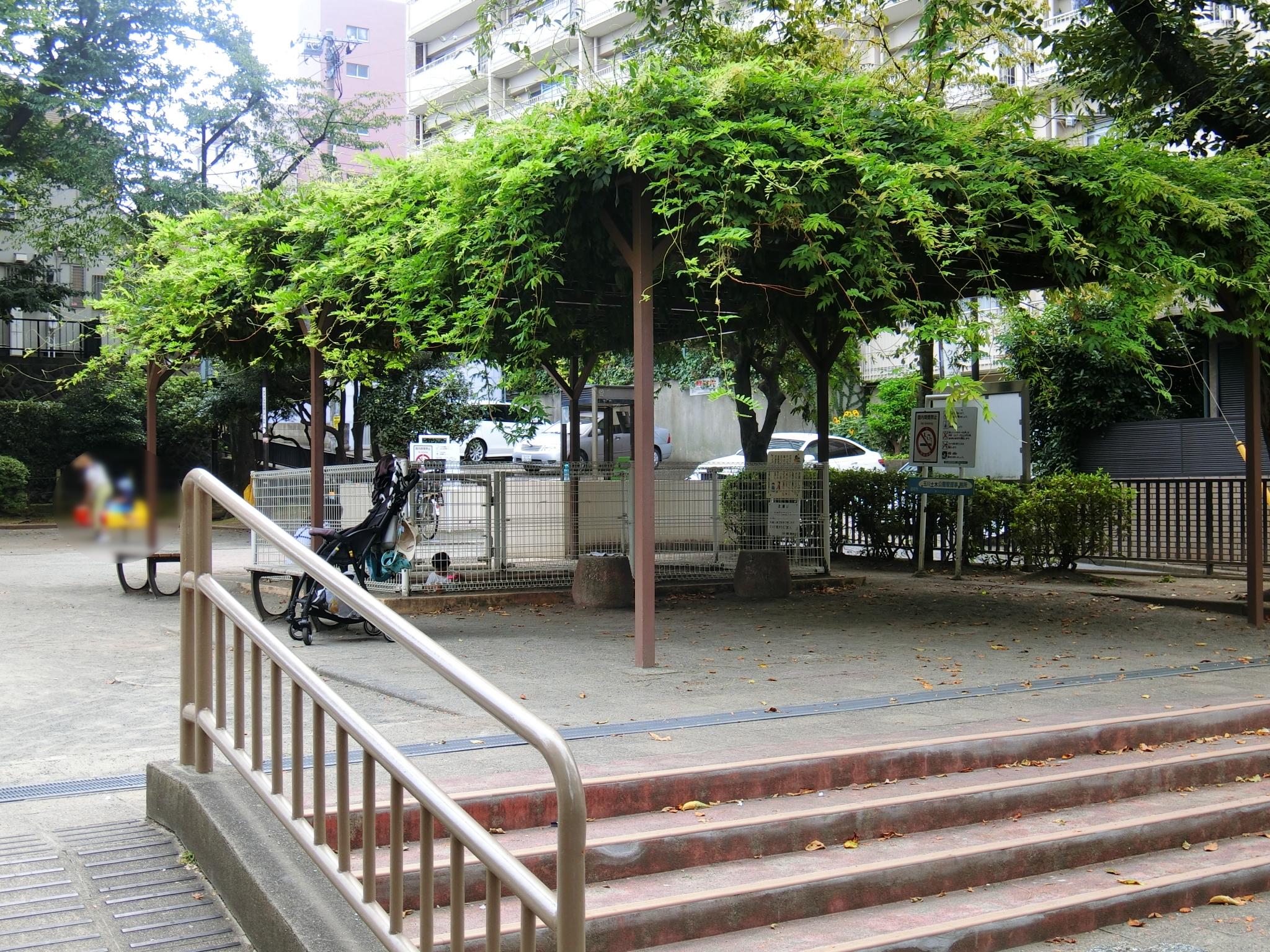 奥沢二丁目公園,自由が丘,公園,九品仏緑道沿い,都会のオアシス